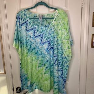 Woman's plus size 3x top shirt blouse Catherine's